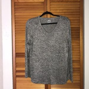 Grey spacedye long sleeved tee